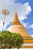 Big pagoda most in Thailand Stock Images