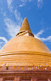 Big pagoda most in Thailand Stock Photo