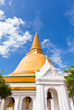 Big pagoda most in Thailand Royalty Free Stock Photography