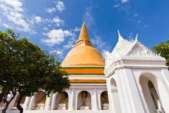 Big pagoda most in Thailand Royalty Free Stock Image