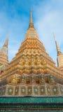 Big pagoda and thai art architecture in Wat Phra Chetupon Vimolmangklararm Wat Pho temple, Thailand. Royalty Free Stock Photography