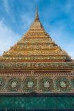 Big pagoda and thai art architecture in Wat Phra Chetupon Vimolmangklararm Wat Pho temple, Thailand. Stock Images