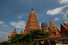 Big Pagoda in Thai temple . Royalty Free Stock Images