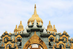 Big pagoda in thailand. Big famous pagoda in Thai temple Royalty Free Stock Photo