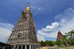 The big pagoda under construction Royalty Free Stock Images