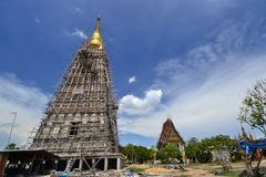 The big pagoda under construction Stock Photography