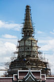 Big pagoda under construction in Thailand Royalty Free Stock Photo