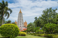 Big pagoda at Wat Yan Sang Wararam Woramahawihan Royalty Free Stock Images
