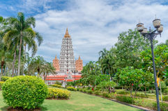 Big pagoda at Wat Yan Sang Wararam Woramahawihan Royalty Free Stock Photos