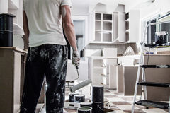 Big Painting Job ! Stock Photos