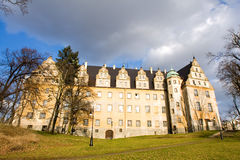 Big palace. In Olesnica, Poland Stock Image