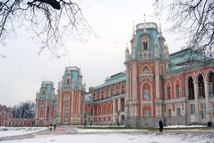 The Big Palace. Tsaritsyno park in Moscow Stock Images