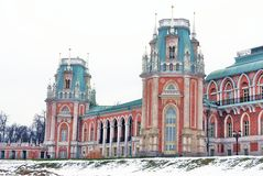 The Big Palace. Tsaritsyno park in Moscow Royalty Free Stock Images