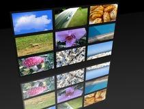 Big panel of TV's Royalty Free Stock Image