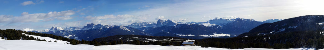 Big panorama of the dolomites Stock Images