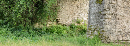 Big panorama of ruins of old castle Stock Images
