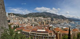 Big Panoramic view of Monte Carlo Royalty Free Stock Image