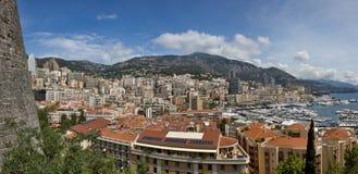 Big Panoramic view of Monte Carlo royalty free stock image