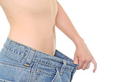 Big pants - diet needed Stock Photos