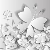 Big paper butterflies Royalty Free Stock Photography