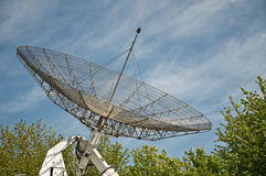 Big parabolic antenna Royalty Free Stock Images