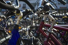 The big parking on leasing of bicycles in Germany. royalty free stock photography