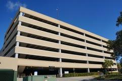 Big parking lot and blue sky Stock Photos