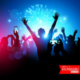 Big Party Crowd. A huge crowd of young people celebrating. Vector illustration Stock Photos