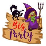 Big party logo, cartoon style vector illustration