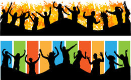Big party people dancing Royalty Free Stock Photography