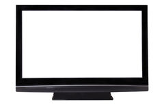 Big pasma HDTV with blank screen isolated, clippin Royalty Free Stock Photography