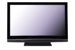 Big pasma HDTV screen isolated. Screen of big plasma TV. Isolated on white with clipping paths royalty free stock photo