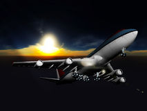 Big passanger airplane Royalty Free Stock Photo