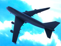 Big passanger airplane Royalty Free Stock Images