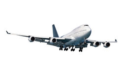 Big passenger aircraft on white Stock Image