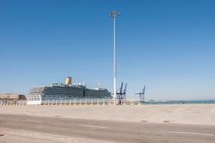 Big passenger ship in Cadiz port Royalty Free Stock Image