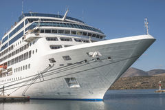 Big passenger ship. In Greece stock image