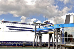 Big passengers ferry boat stock images