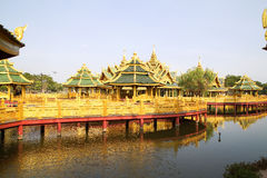 Big pavilion on water Royalty Free Stock Image