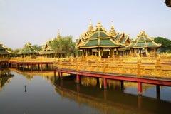 Big pavilion on water Stock Image