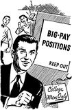 Big Pay Positions Stock Photography