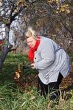 Big peasant woman Stock Image
