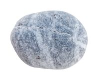 Big pebble stone from beach isolated on white background. Stone element Stock Photography