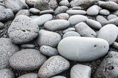 Big pebbles background Stock Photo