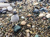 Big pebbles background texture royalty free stock photography