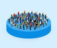 Big people crowd in circle. Society concept. vector illustration
