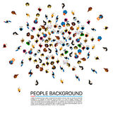 Big people crowd on white background. Vector illustration. stock illustration