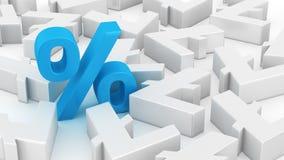 Big percent of litecoins Royalty Free Stock Photo