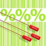 Big percent - successful sale Royalty Free Stock Photos