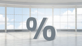 Big percentage sign . Mixed media Royalty Free Stock Image